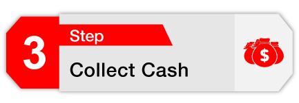 Step 3 Collect Cash